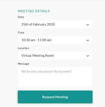 meeting request details